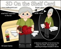 3D On the Shelf Card Kit - Gregory has a Heart Shaped Box of Chocolates - CUP722724_359 | Craftsuprint