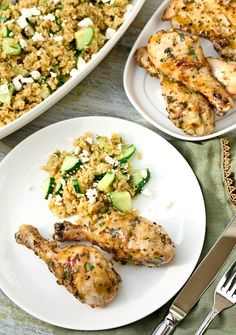 Grilled Mustard Maple Chicken from {A Spicy Perspective}. @Sarah Russell. I didn't make the side dish but it sounds good too.