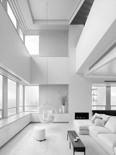 White Duplex Penthouse Interior - Just The Design