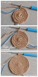 Wayuu Mochilla Bag So goes its - Styles Crafts Wayuu Mochilla Bag How to … 8 - Diy 5 Minutes Crafts Cumka Mochila (online / MC) - alle in durchbrochene . Crochet rug or heat pad if you get bored at about 12 – Artofit Crochet Clutch, Crochet Purses, Love Crochet, Knit Crochet, Single Crochet, Hemp Yarn, Knitting Patterns, Crochet Patterns, Round Bag