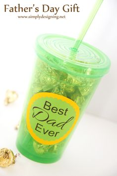 Father's Day Tumbler Gift   Simple Father's Day Gift idea from @Jackie Godbold Gregory Designing {Ashley Phipps}