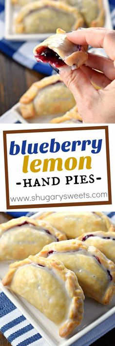 Healthy 30 Minute Dinner Ideas All it takes is 30 minutes to prepare these Blueberry Lemon Hand Pies with their flaky crust and citrus glaze!All it takes is 30 minutes to prepare these Blueberry Lemon Hand Pies with their flaky crust and citrus glaze! Blueberry Recipes, Lemon Recipes, Sweet Recipes, Baking Recipes, Simple Recipes, Just Desserts, Delicious Desserts, Dessert Recipes, Yummy Food