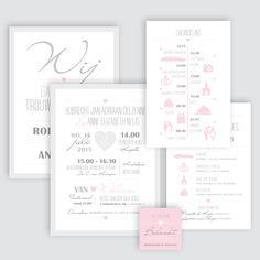 Trouwkaart Robert-Jan en Annelies, ontworpen door Ontwerp Studio Rottier