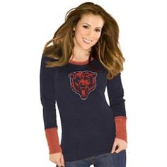Touch by Alyssa Milano Chicago Bears Ladies Navy Blue Kari Thermal