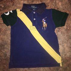 Polo Ralph Lauren Color Block Big Pony Banner Striped Polo Shirt Boys 3T  #PoloRalphLauren #Everyday
