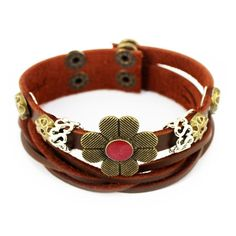Black Lava Brown Leather Triple Wrap Bracelet/anklet In Pain Fashion Jewelry