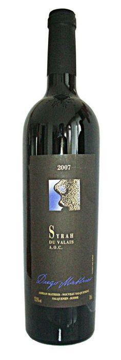 Mathier_Syrah du Valais Whiskey Bottle, Vodka Bottle, Red, Wine, Drinking