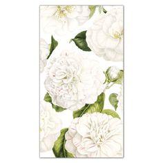 Caspari Camellia Garden Ivory Paper Guest Towels