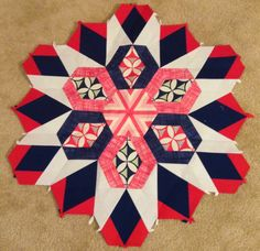 More than Rubies: The New Hexagon Millefiore Quilt Along: Rosette 1 and a GIVEAWAY!