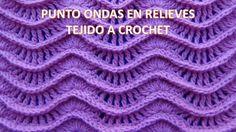 Punto a crochet N° 25 ondas en relieves para suéteres y cobijas de bebe ...