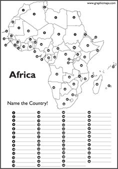 blank map- Asante and I are memorizing the countries of Africa in ...