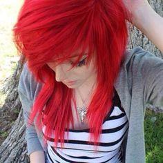 I love Alex Dorame's new hair, she changes it sooo much and it always looks amazing Lilac Hair, Pastel Hair, Green Hair, Blue Hair, Red Scene Hair, Cute Emo Girls, Alex Dorame, Girls With Red Hair, Hair Girls