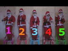 Learn Chair Colors With Five Little SANTA Jumping on the bad Good Songs For Kids and Toddlers - YouTube
