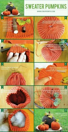How To Make Sweater Pumpkins How To Make Sweater Pumpkins die mause diemause 26 to do k rbis Perfekt f r die Dekoration der Kaminverkleidung oder Tabellenmittel nbsp hellip for fall diy Autumn Crafts, Thanksgiving Crafts, Holiday Crafts, Holiday Ideas, Glitter Pumpkins, Fall Pumpkins, Pumpkin Crafts, Diy Pumpkin, Fall Projects