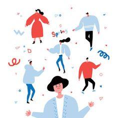 Family Illustration, Tree Illustration, People Illustration, Illustration Sketches, Character Illustration, Digital Illustration, Graphic Illustration, Character Flat Design, Calendar Design