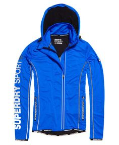 Superdry Sports Athletic Panel Zip Hoodie Blue