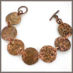 Inspiration :: Hammered penny bracelet  #handmade #jewelry