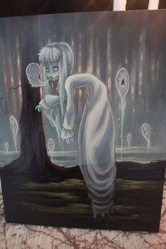 White Stag The Haunter Original ghost lowbrow gothic fantasy art painting Gustav Klimt, Art Journal Pages, Art Journals, Drawing Faces, Art Drawings, Art Sketches, Art Couple, Illustration Art Nouveau, Video Vintage