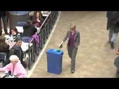 Una divertida acción de Marketing de #Guerrilla▶ ça c'est un Flashmob ..... Recyclage Sensibilisation au Quebec - www.emaroketing.com - YouTube