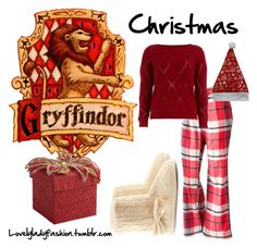 Gryffindor's Christmas Morning by sad-samantha on Polyvore featuring polyvore, fashion, style, Dorothy Perkins, Sonoma life + style, H&M, Pier 1 Imports and clothing