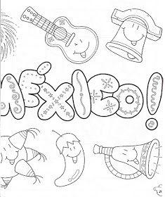 Titulo: Bicentenario de la Independencia de México Mexican Night, Mexican Party, Mexican Embroidery, Embroidery Patterns, September Decorations, Mexico Costume, Mexico Crafts, Abc Preschool, Mexican Flags