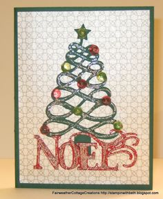 Card made with the December 25 Cricut Cartridge.  Please visit my blog for more of my creations http://stampinwithbeth.blogspot.com