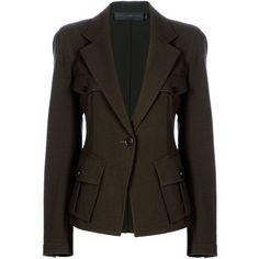 DONNA KARAN Military blazer ($1,320) ❤ liked on Polyvore