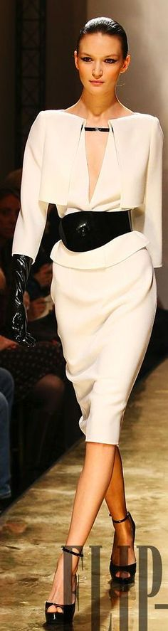 Fausto Sarli - loving this. women fashion outfit clothing style apparel @roressclothes closet ideas