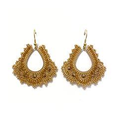 in Goldtönen Crochet Earrings, Accessories, Jewelry, Fashion, Moda, Jewlery, Jewerly, Fashion Styles, Schmuck