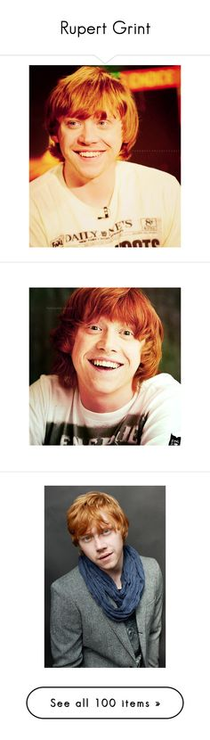 """""""Rupert Grint"""" by jo-march-15 ❤ liked on Polyvore featuring harry potter, rupert grint, actors, backgrounds, boy, people, pictures, models, death and harry potter &lt3"""
