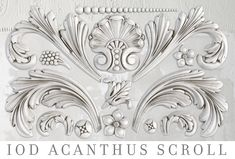 Acanthus Scroll IOD Decor Mould Iron Orchid Designs Mould for Clay or Resin Shangri La, Iron Orchid Designs, Make Your Own Jewelry, Acanthus, Paper Clay, Sugar Art, Air Dry Clay, Diy Painting, Painted Furniture