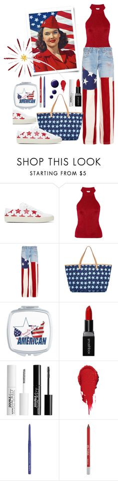 """Independence Day~contest"" by loves-elephants ❤ liked on Polyvore featuring Yves Saint Laurent, RVDK, Mystique, Smashbox, Charlotte Russe, NYX, Urban Decay and Topshop"
