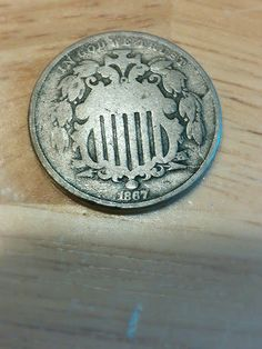 1867 shield nickel rare type coin VG/VG by DrewsCollectibles, $17.00
