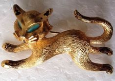 Vintage+SIGNED+RARE+1960's+JJ+Turquoise+Eyes+SIAMESE+KITTY+CAT+PIN+BROOCH~+#JJ