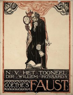 "blackpaint20: "" Richard Roland Holst, 4 December , Amsterdam, Netherlands 1868 image: Richard Roland Holst Poster, Goethe's Faust, 1918 """