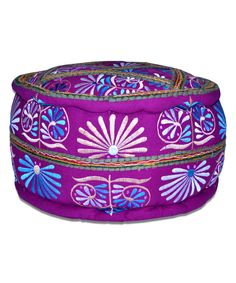 Embroidered Pouf