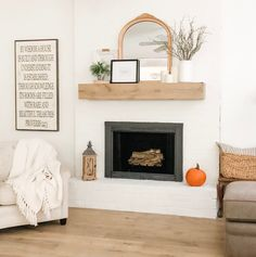 DIY fireplace makeover tutorial
