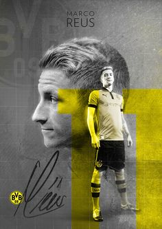 Marco Reus | BVB Borussia Dortmund on Behance | by Stephen Pecoraro --- Marco…