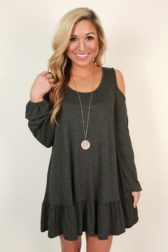 Enjoy your date in style and comfort with this cold shoulder top!
