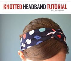 How to DIY a Knotted Headband- Full tutorial with pictures for each step #WholeBlends #ad