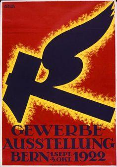 Gewerbe-Ausstellung Bern - 1.Sept.-3.Okt. 1922. Design: : Atelier Häusler, CH, Switzerland. (eMuseum - Zurich University of the Arts)