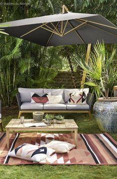 Outdoor Curtains For Patio, Outdoor Decor, Outdoor Ideas, Costco Patio Furniture, Outdoor Spaces, Outdoor Living, Vintage Patio, Gravel Patio, Patio Layout