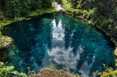 Tamolitch Pool, known by many as Blue Pool due to its brilliant aquamarine water, is a rewarding destination along the McKenzie River Trail.  Oregon