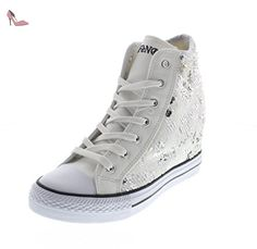 Chaussures Partner Sneaker allacciata noir in cafe Caf 41 pitone 7wvXn8qwg
