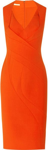 When I see this amazing #dress in burned #orange it reminds me of Michelle Obama :)