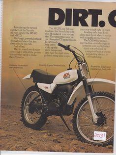 vintage yamaha mx175 original motorcycle sales brochure rare ebay
