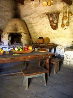 La Purisima Mission is my favorite of the 21 California missions because it's the only mission that has been restored and maintained to give a glimpse of what mission life was really like.  La Purisima Mission Kitchen by catzcartas.
