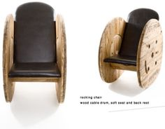 armchair with wooden reel Build an armchair with a wooden cable reel... LOVE IT