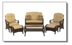 Hampton Bay Kampar Chair and Ottoman Replacement Cushions
