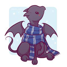 What's better than ravenclaw? A Toothless-like-dragon in a Ravenclaw scarf! Both my favorites in one. Fanart Harry Potter, Harry Potter World, Cute Harry Potter, Harry Potter Drawings, Harry Potter Universal, Harry Potter Fandom, Harry Potter Hogwarts, Kawaii Drawings, Cute Drawings